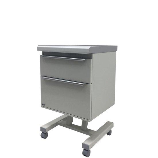 Медицинский стол врача А-012 мобильный с 2 ящиками (основание из прямоугольной трубы) - Интернет-магазин медицинской и косметологической мебели Аванта